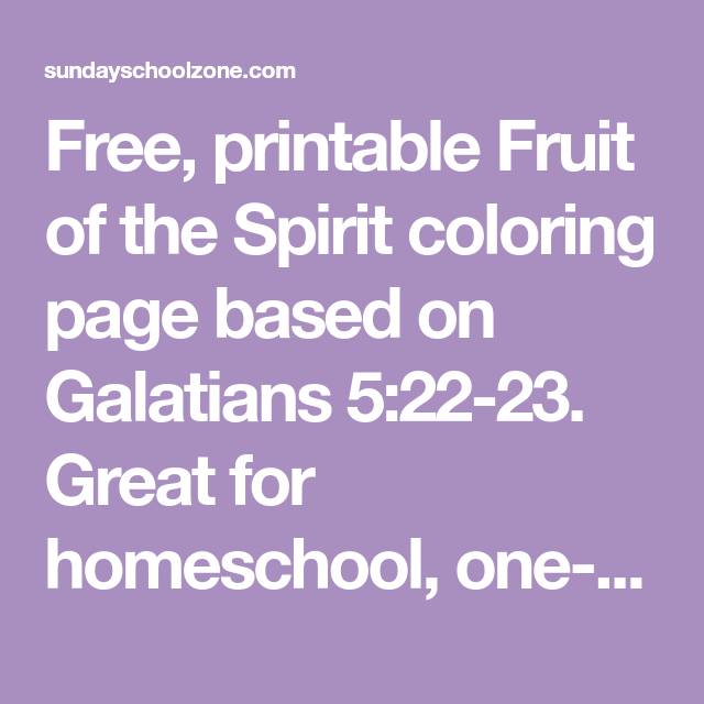 free printable fruit of the spirit coloring page based on
