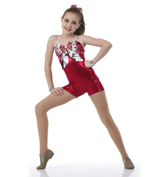 Red Christmas Dance Costume Wrapped Up Jazz Tap Sparkle