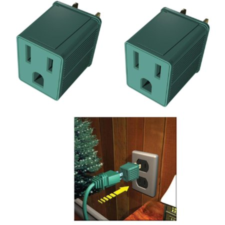Westinghouse Pack Of Green 2 Plug Adapters 3 Prong To 2 Prong Plug Dorm Accessories Adapter Plug