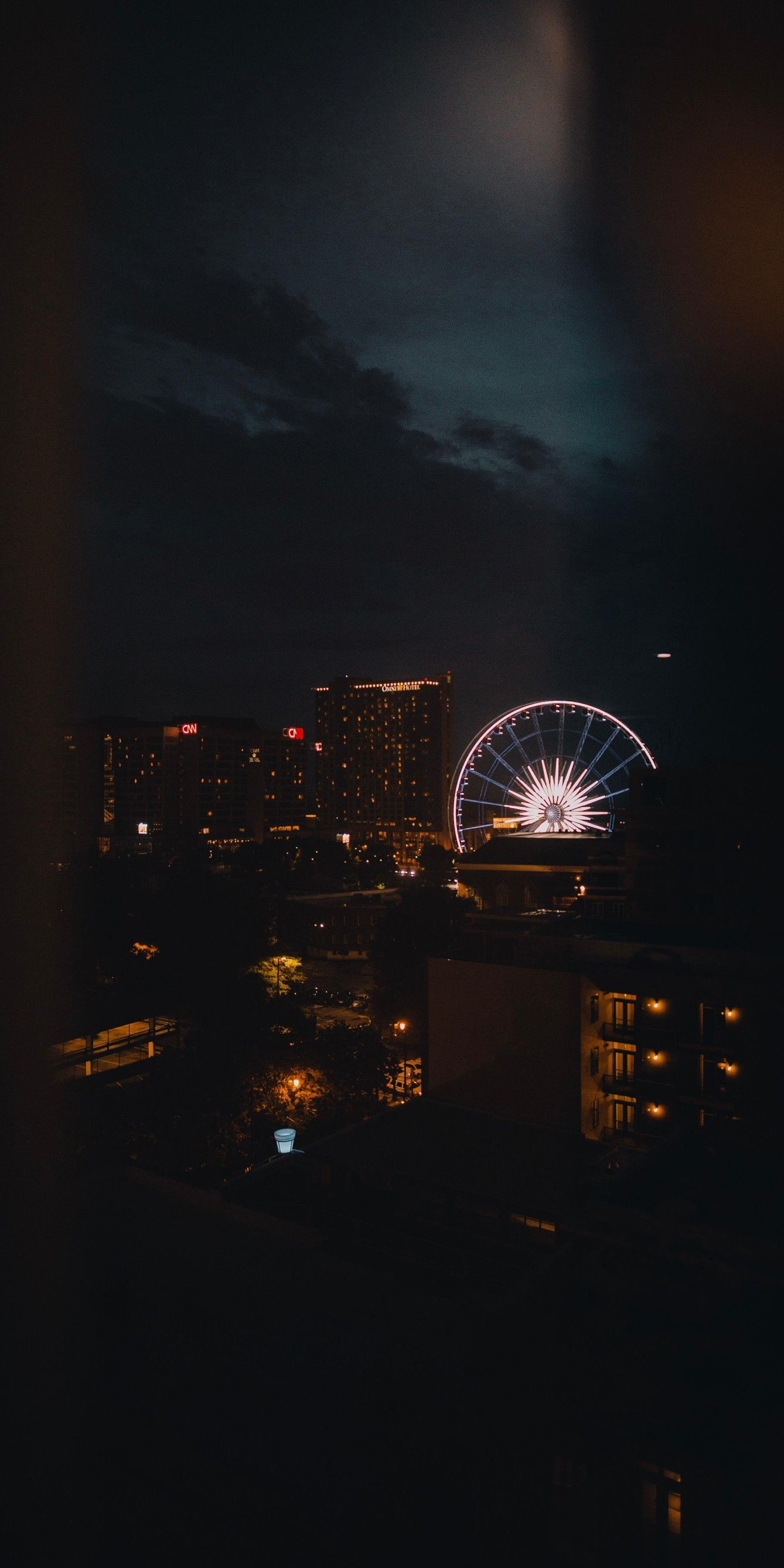 Ferris Wheel Night Landscape Photography Night Landscape