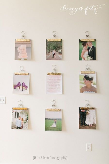 A fun way to display your photos in the playroom!  Ruth Allen's Light Filled Loft on The Everygirl