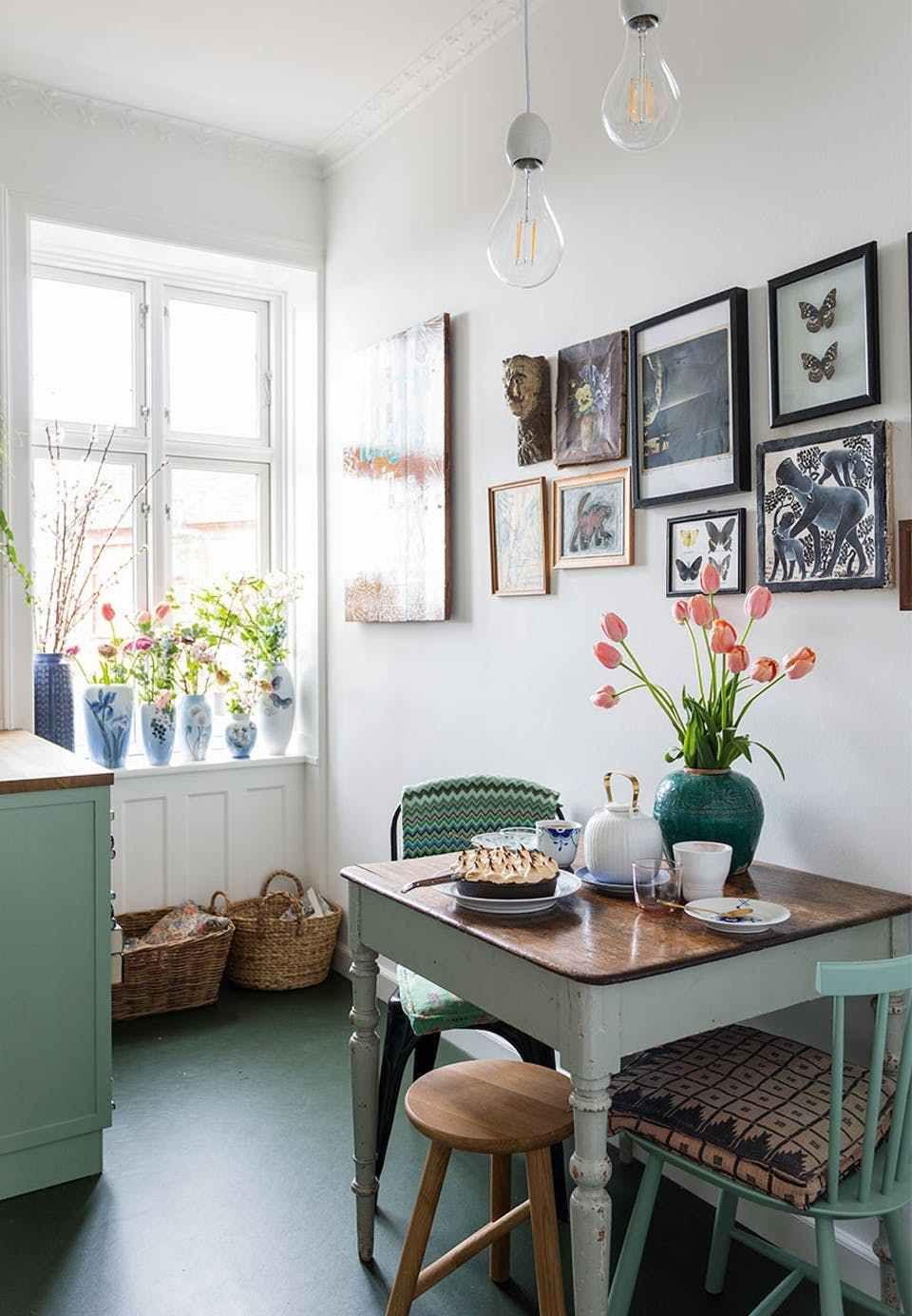 Azul claro en todas las habitaciones | Pinterest | Kleine wohnung ...