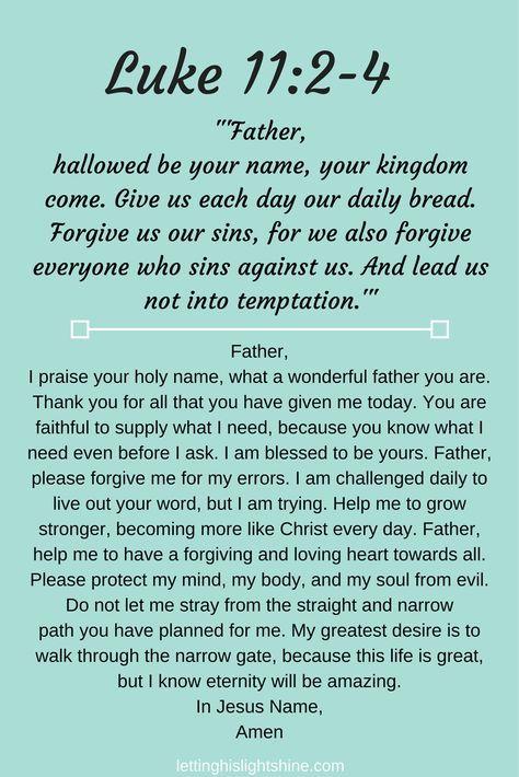 Luke 11:2-4