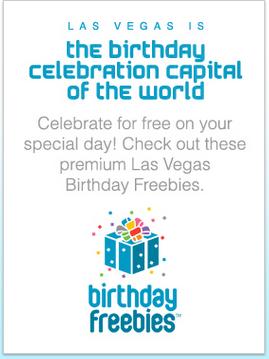 Las vegas is the birthday celebration capital of the world.