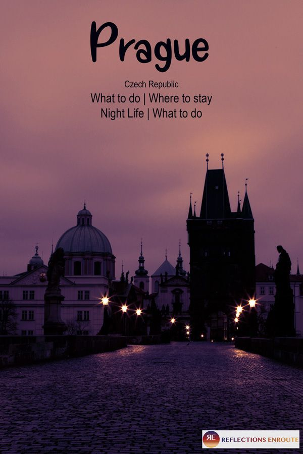 Prague is one of the most romantic cities in Europe! Walk over the Charles Bridge at sunset or sunrise and then warm up with a great meal. Click here to find out all the fantastic things to do in #Prague for a quick #citybreak. #Czech #romance #couple #nightlife #restaurant #beer #solo #beauty #reflectionsenroute