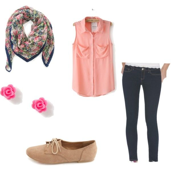 """Casual School Outfit"" by luhill on Polyvore 