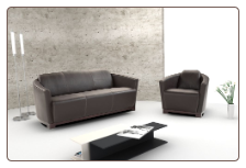Italian Leather sofa set fashionable and stylish, seats and backs have high density foam to give you extra comfort and support by Nicolleti Italia.