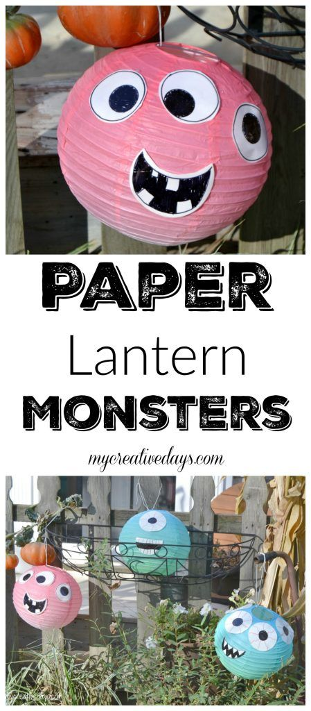 DIY Halloween Decorations Paper Lantern Monsters Party Ideas - create halloween decorations