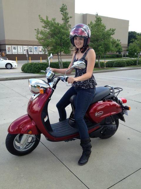 Yamaha Vino 125 >> 2009 Yamaha Vino 125 And The Cute Rider Is My Kiddo
