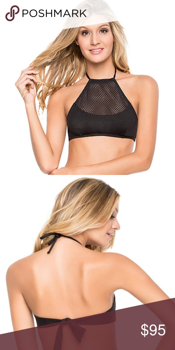 4aa6f18d05ebc OndadeMar High Neck Halter Top New with tags! Comes in original packaging  bag too. -Strap around the neck to free adjustment -Mesh detail at front ...