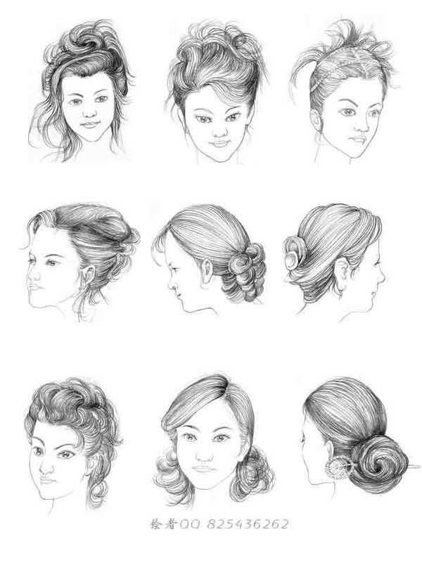 draw hair women's