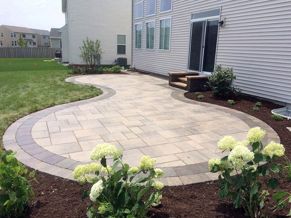 Inspiring 10x10 Stone Patio Just On Omahhome Com Stone Patio Designs Patio Pavers Design Patio Stones