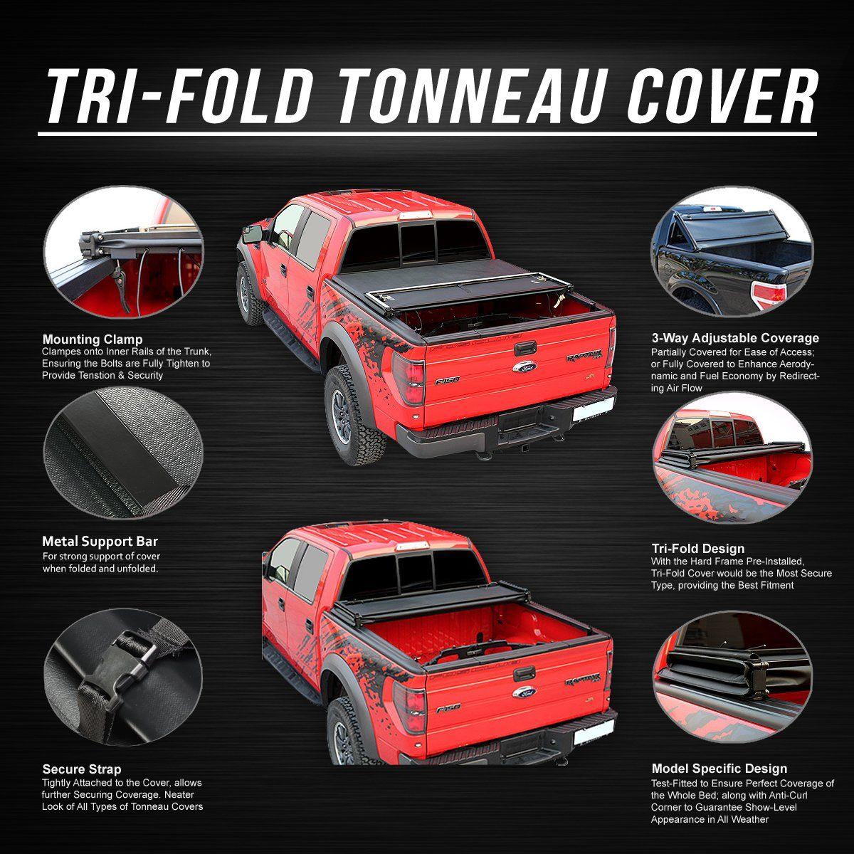 02 16 Dodge Ram 1500 2500 3500 8 Ft Bed Soft Folding Tri Fold Tonneau Cover In 2021 Tonneau Cover Tri Fold Tonneau Cover Truck Bed Covers