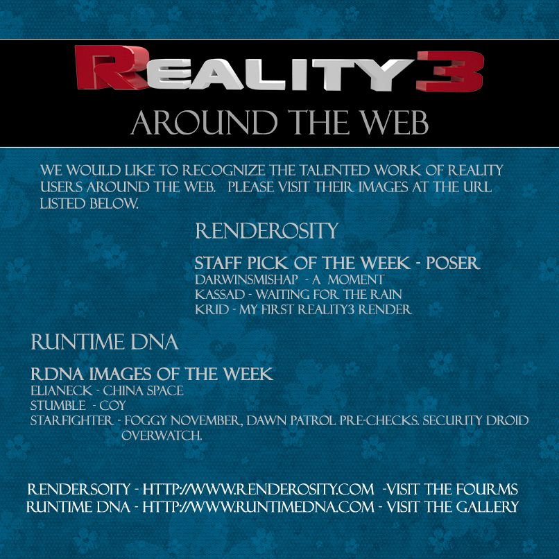 Reality 3 Around the Web