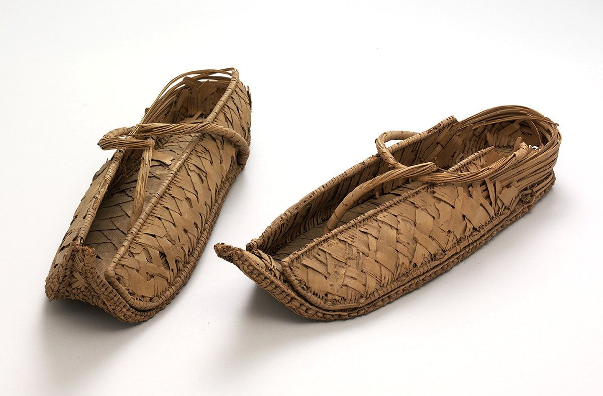 Pair Of Overshoes, 1550-1070 BC, Egypt, Reed. From Major