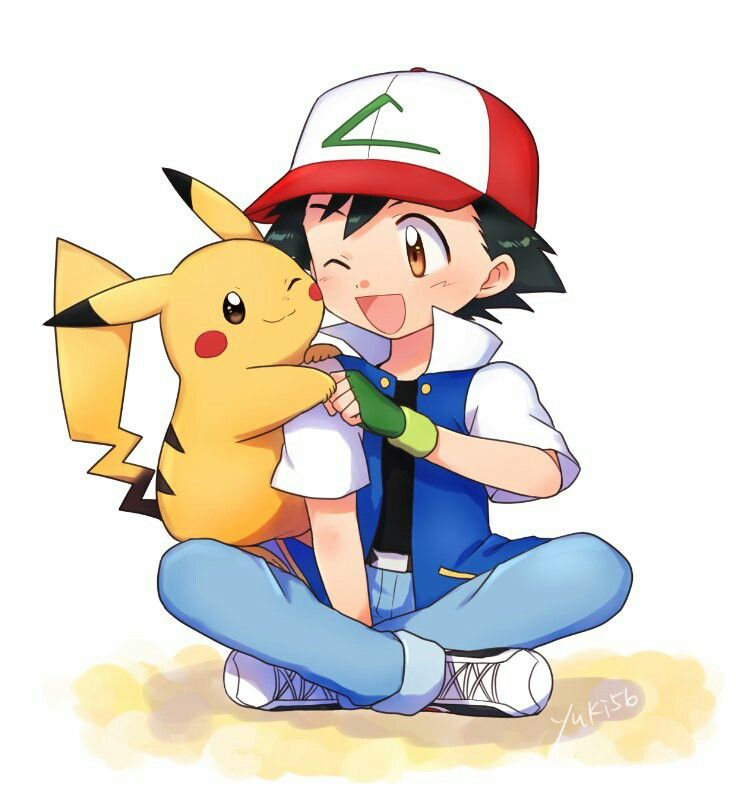 So Cute Ash And Pickachu Personagens Pokemon Pokemon Fofo