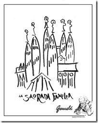 Sagrada Familia Colorear 1 Manualidad Gaudi Sagrada Familia Y