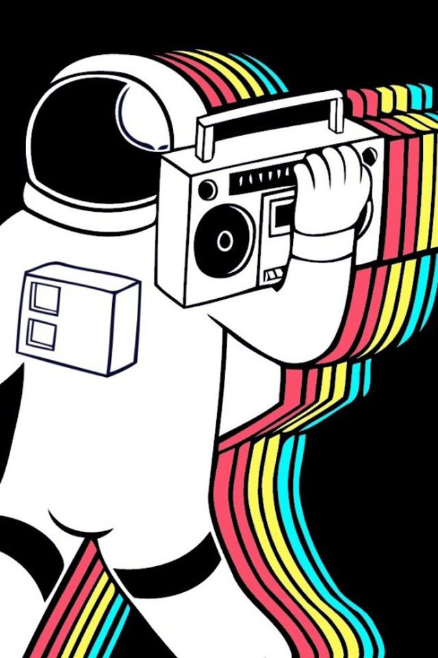 Spaceman with a boombox artwork artwork popart music - Space 80s wallpaper ...