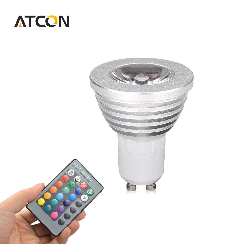 New Arrival 1pcs 16 Colors Dimmable Gu10 Rgb Led Lamp 110v 220v 5w With 24 Keys Remote Controller Spotlight