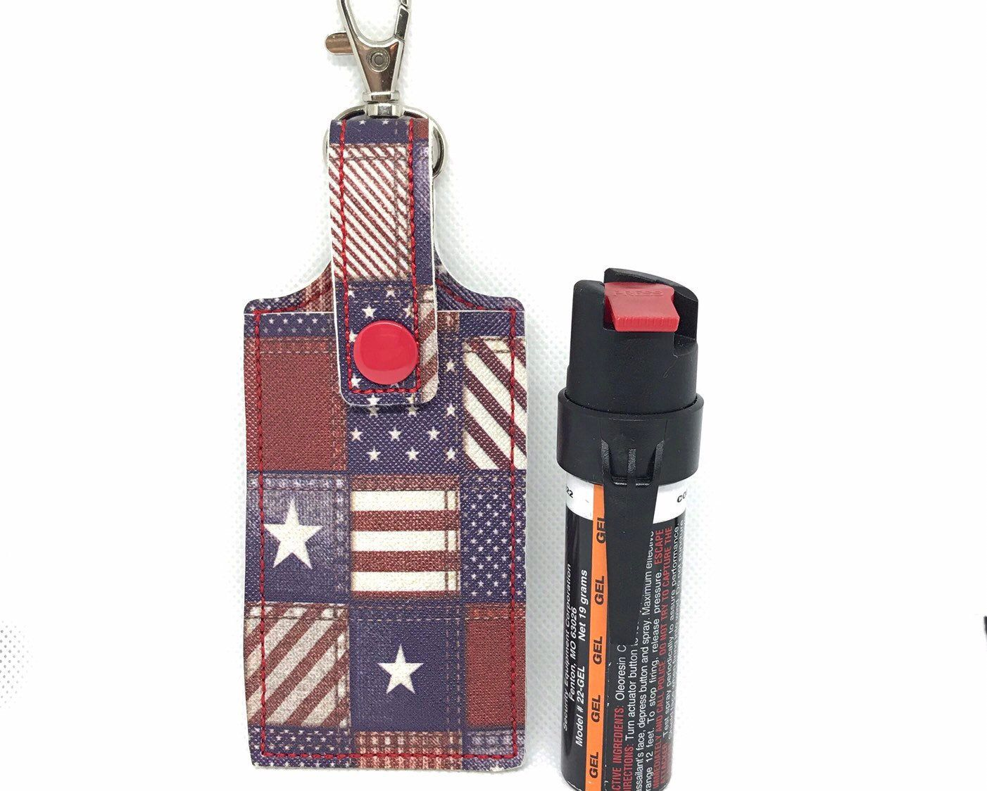 Pepper Spray Case Keychain Mace Holder Key Fob Self Defense