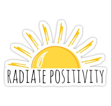 Radiate Positivity Stickers By Ali Hilker Redbubble Positivity Stickers Tumblr Stickers Cute Stickers