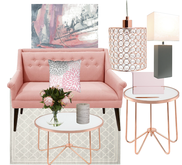 Blush Crush! Blush, Grey & Rose Gold Decor. Where To Get