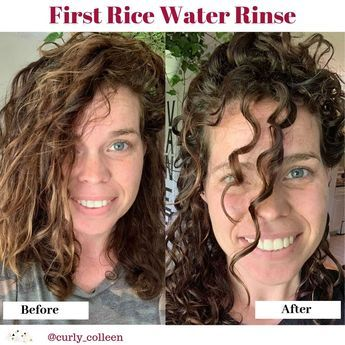 How To Make Rice Water For Curly Hair - Curly hair photos, Curly hair tips, Curly hair styles naturally, Curly girl method, Help hair grow, Curly hair care - Colleen Charney
