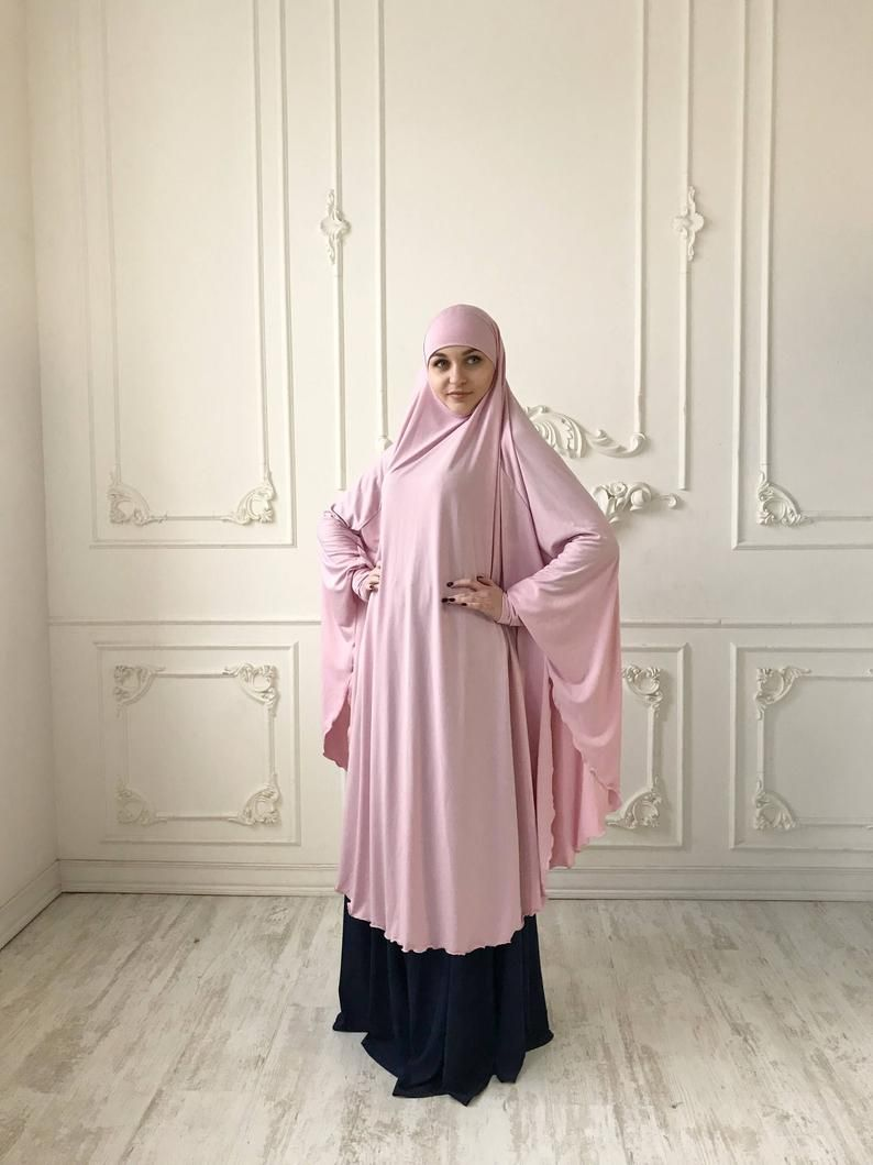 Transformer Blush Khimar Transformer Light Pink Hijab Etsy In 2020 Islamic Clothing Abayas Modern Hijab Fashion Style Maxi Dress