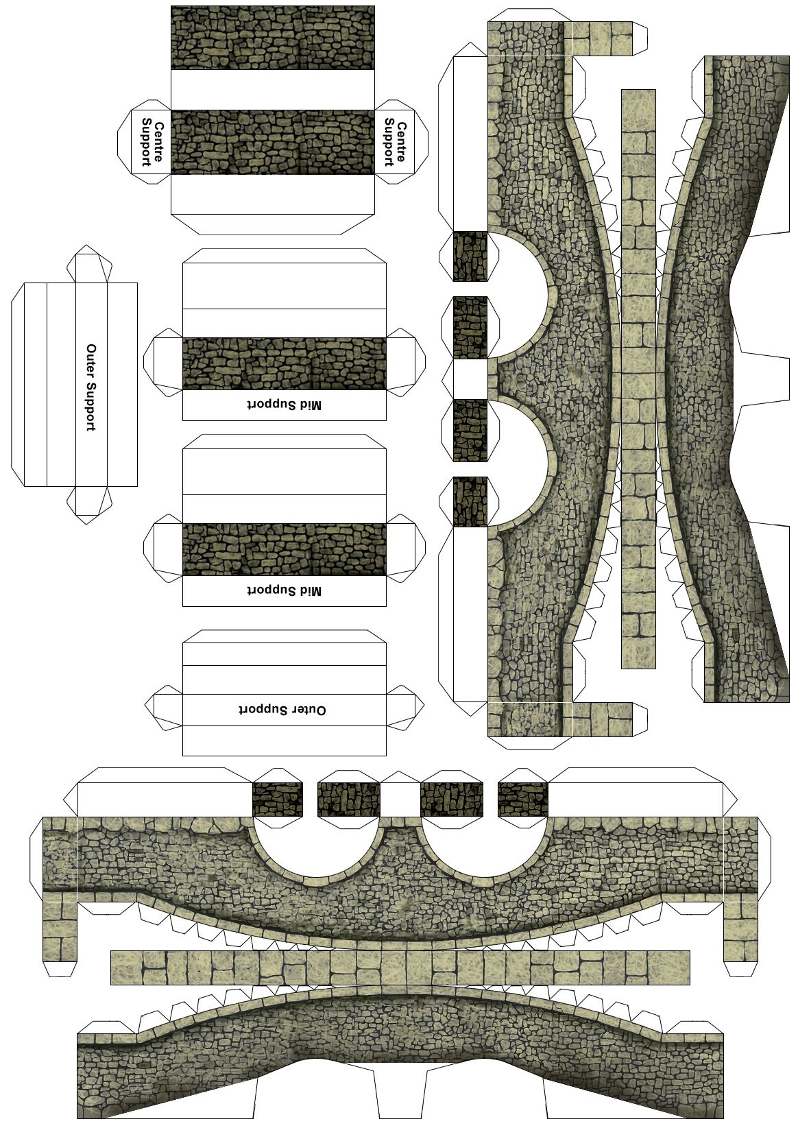 cut out stone bridge 01 paper buildings pinterest bastelbogen papier and modellbau. Black Bedroom Furniture Sets. Home Design Ideas