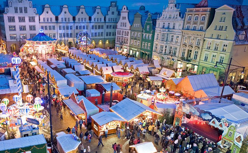 Weihnachtsmarkt In Rostock.Weihnachtsmarkt In Rostock Mecklenburg Vorpommern Christmas In
