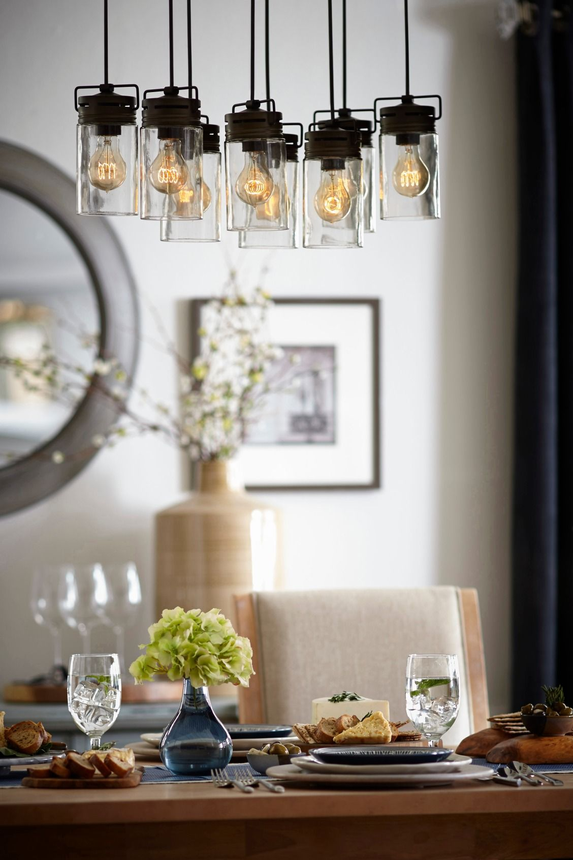 Ideal for an urban loft or farmhouse an industrial style chandelier allen roth timeless moments rustic home dcor aloadofball Images