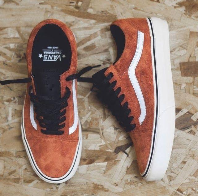 vans old skool men orange