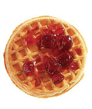 Snack idea: Van's All-Natural Multigrain Waffle with fruit preserves, #snacks
