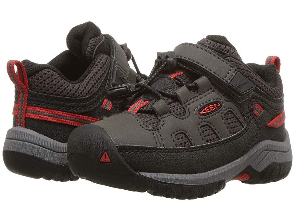 fab669cfa489 Keen Kids Targhee Low (Toddler Little Kid) (Magnet Fiery Red) Boy s Shoes.  Give in to grit! The Keen Kids Targhee Low boot is made for some heavy  terrain ...