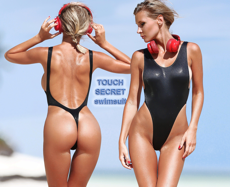 bcb1ea84c397b One Piece Swimsuit Bodysuit Monokini Swimwear Hot Sport Black Thong High Cut  Leg Open Back Bathing Suit Beauty Sexy Cute Women's by SwimsuitTouchSecret  on ...
