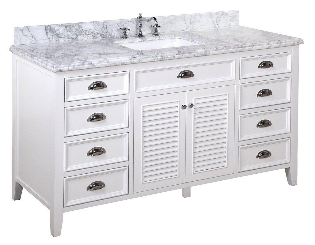 """Savannah 60"""" Single Bathroom Vanity Set Traditional"""