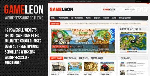 Gameleon – WordPress Arcade Theme   wordpreess Theme   Pinterest
