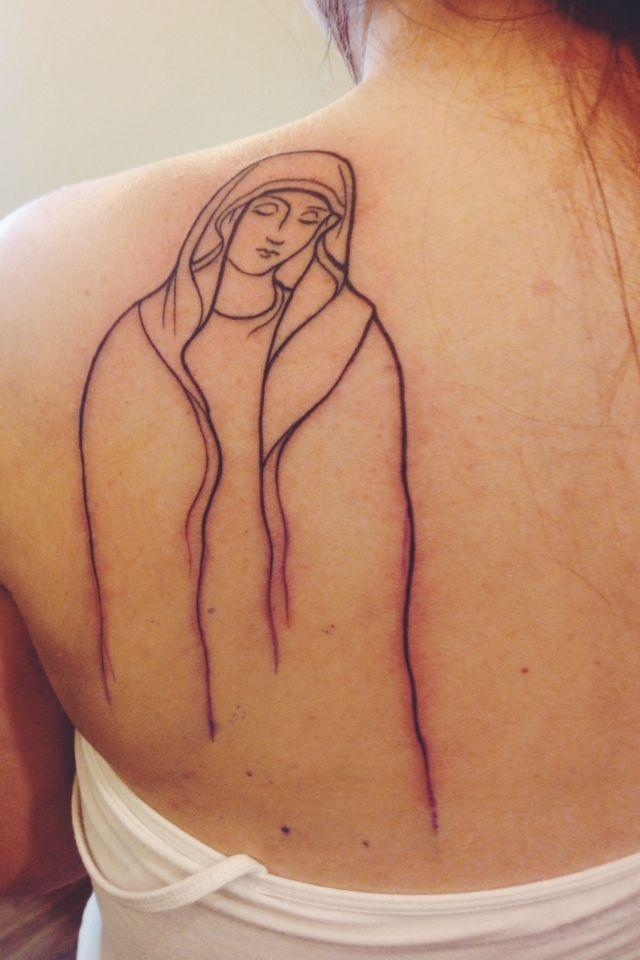 Mary tattoo. Done at Paris Tattoos in Charlotte, NC | Tattoo Ideas ...