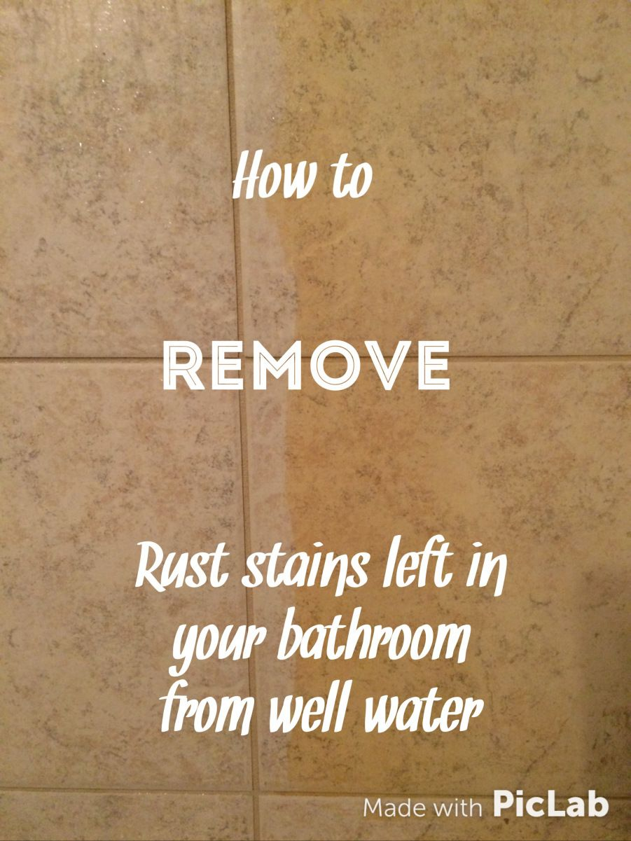 How to remove rust stains left in your bathroom from well water ...