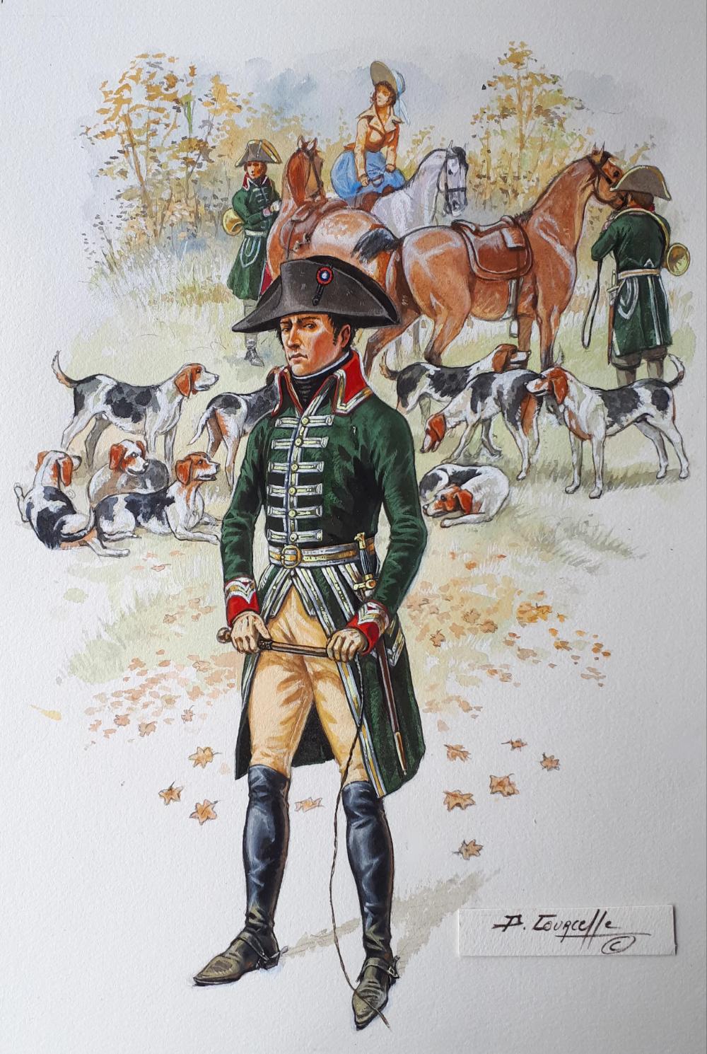 BONAPARTE en tenue de vénerie 20   Napoleone, Disegni, Militari
