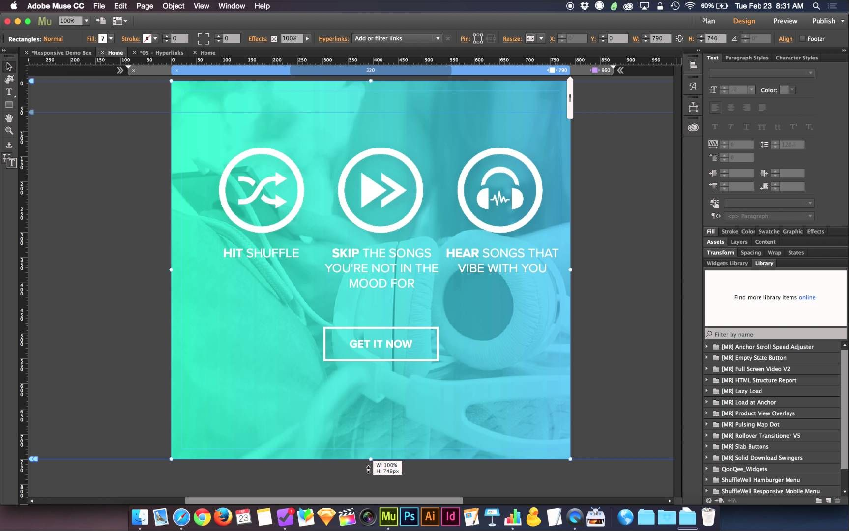 New Adobe Muse 2016 Responsive Tutorial Where To Put Your Breakpoints Adobe Muse Graphic Design Marketing Graphic Design Logo