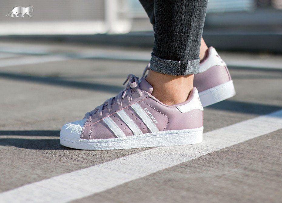 Adidas Superstar W Blanch Purple Vintage White Adidas Shoes Women Adidas Superstar Adidas Women