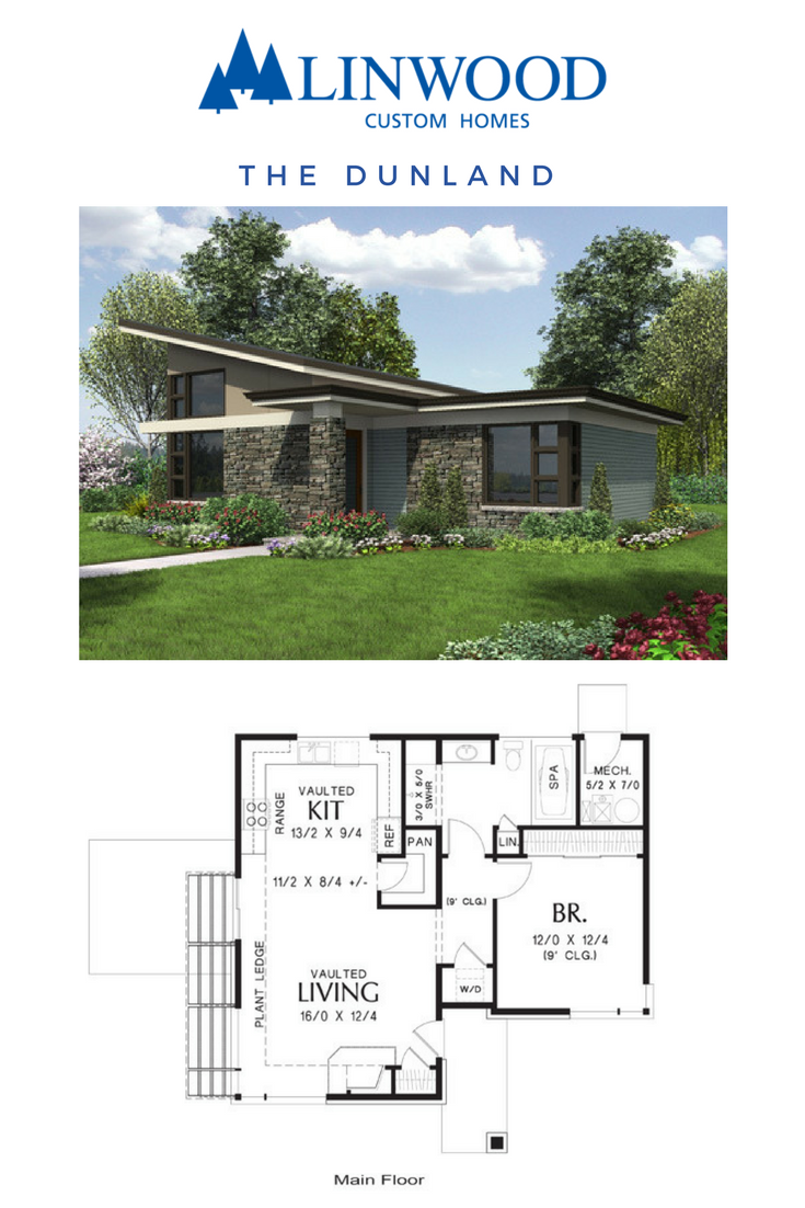 Looking To Downsize Or Start Small The Dunland Home Package From Linwood Homes Part Of The Mascord Design Starter Home Plans Dream House Plans House Layouts