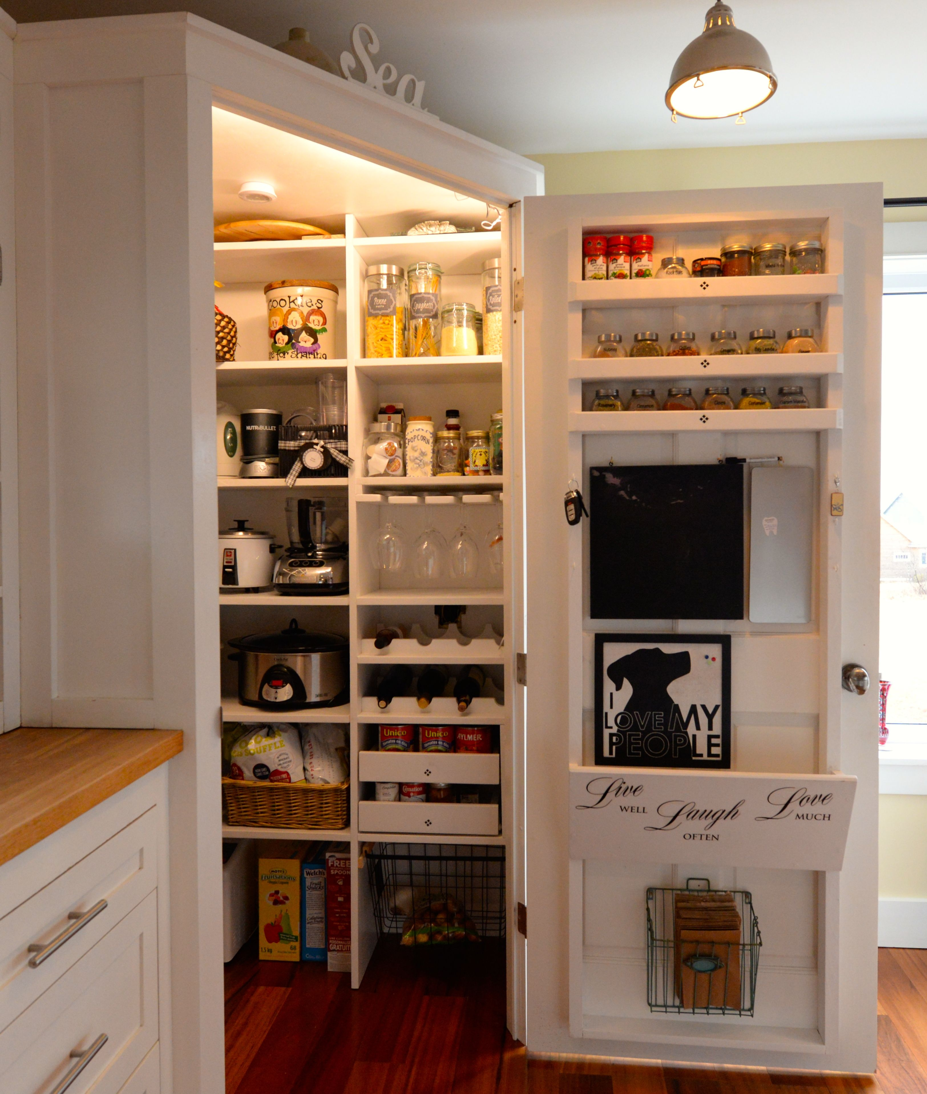 Finally My 4 Foot X 4 Foot Walk In Pantry Is Finished Everything