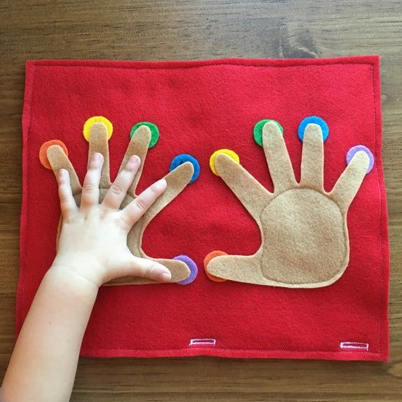 Finger Counting Page; Toddler Quiet Book, Busy Bag, Travel ...