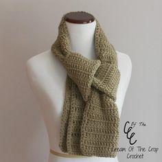 Cream of the Crop Crochet~Beginner Scarf{free #crochet pattern} #handmade #FathersDay #Grads