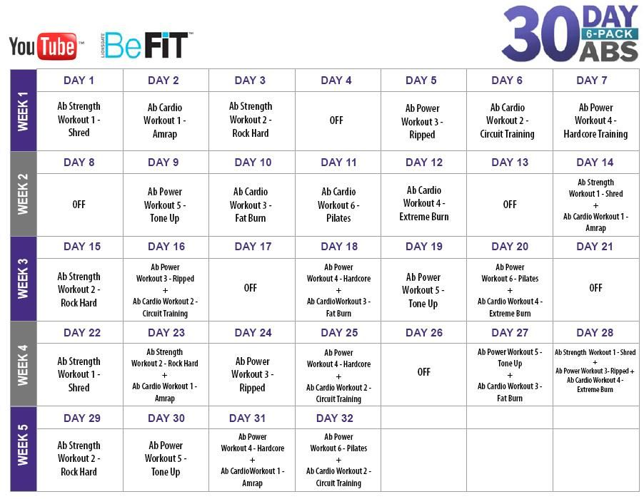 Day Fat Burn Calendar  Exercise    Fat Th And
