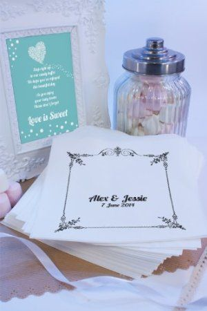Personalised Wedding Sweet Bags BUNTING Candy Cart Wedding Favours Confetti Enga