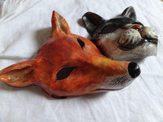 Halloween Animal mask by MiesmesaBerni on Etsy.