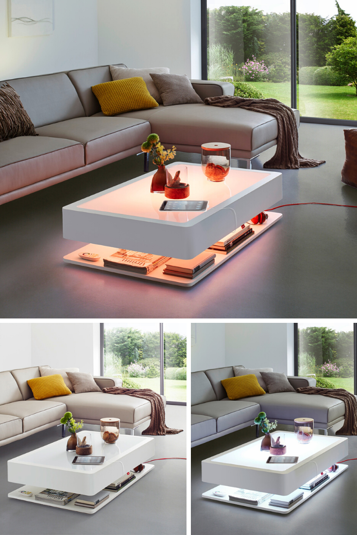 Couchtisch Beleuchtet Ora Home Led Pro Led Beleuchtung Integriert In 2020 Wohnzimmer Tisch Weiss Wohnzimmertisch Wohnzimmer Einrichten
